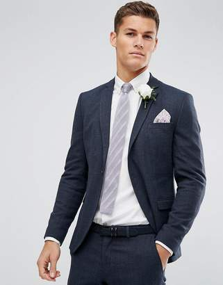 Selected Skinny Winter Wedding Suit Jacket
