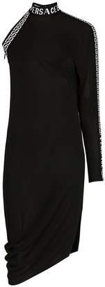 Versace one sleeved high neck midi dress