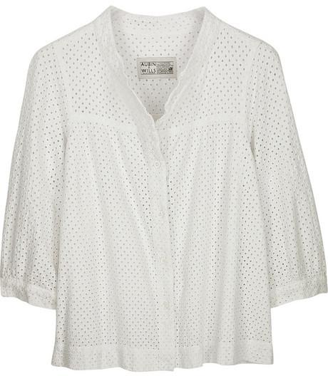 Aubin & Wills Elmsfield broderie Anglaise blouse