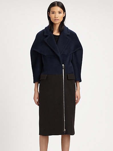 Alexander Wang Alpaca Colorblock Coat