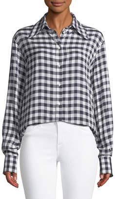 Joseph Charlie Gingham Jacquard Shirt