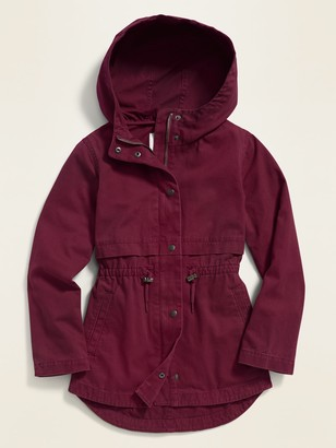 Old Navy Twill Hooded Field Jacket for Girls