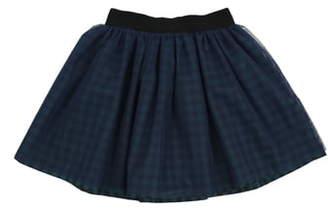 Popatu Check Tulle Skirt