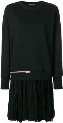 Alexander McQueen oversized zip detail sweatshirt