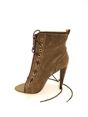 Alexander Wang Leather open toe boots