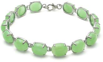 FINE JEWELRY Green Jade Sterling Silver Bracelet