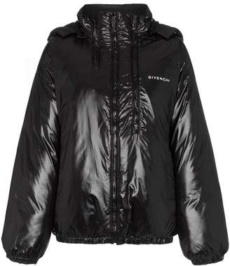 Givenchy front logo multi zip puffer jacket