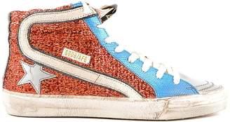 Golden Goose Metallic Hi-top Sneakers