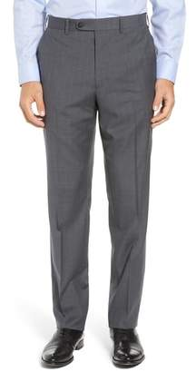 John W. Nordstrom R) Torino Traditional Fit Flat Front Plaid Wool Trousers