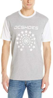 DC Men's Zoomz Short Sleeve Screen Tee, Heather Grey