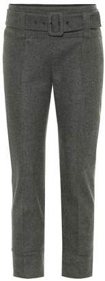 Prada Belted stretch wool pants