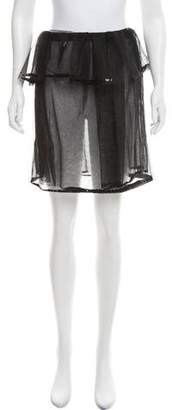 Phoebe English Sequined Mesh Skirt