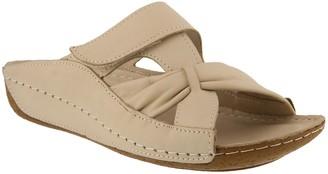 Spring Step Leather Slide Sandals - Gretta