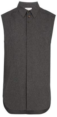 Wales Bonner Sleeveless Shirt - Mens - Grey
