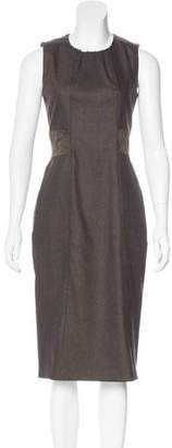 Belstaff Suede-Trimmed Wool Dress