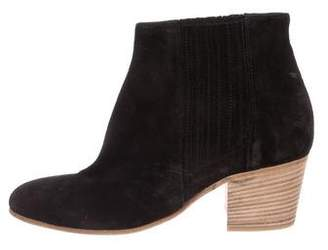 Vince Suede Round-Toe Ankle Boots