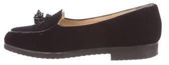 Bottega VenetaBottega Veneta Velvet Tassel-Embellished Loafers