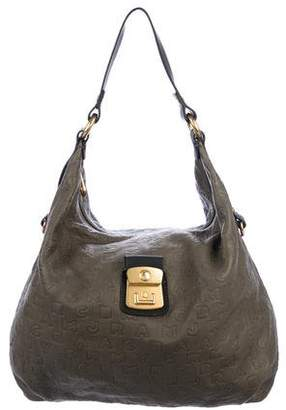 Marc by Marc Jacobs Logo Embossed Leather Hobo