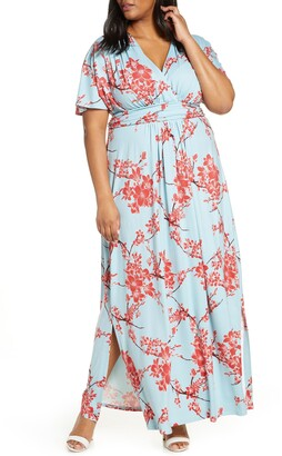 Kiyonna Vienna V-Neck Maxi Dress