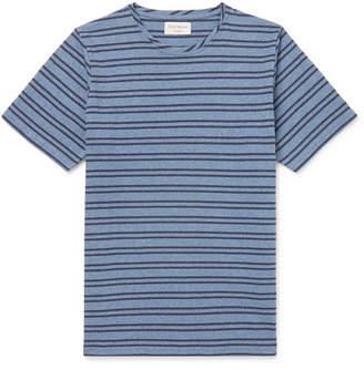 Oliver Spencer Loungewear Dartford Striped Cotton-Jersey T-Shirt