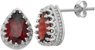 FINE JEWELRY Genuine Garnet Sterling Silver Earrings