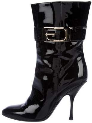 Gucci Patent Leather High-Heel Boots
