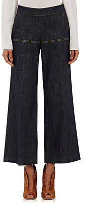 Derek Lam Women's Denim Gaucho Pants-NAVY, BLUE $650 thestylecure.com