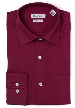 Haggar Men's Premium Comfort Slim-Fit Stretch Dress Shirt