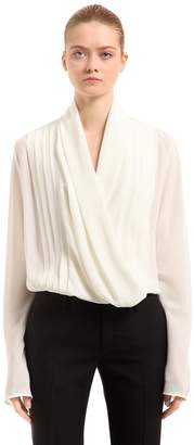 Haider Ackermann Draped Silk Shirt