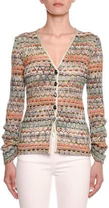 Missoni Zigzag Knit Button-Front Cardigan