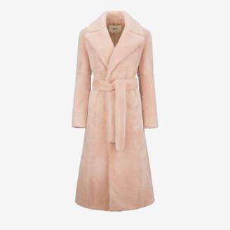 Bally Long Beaver Fur Coat