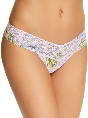 Hanky Panky Low-Rise Printed Lace Thong