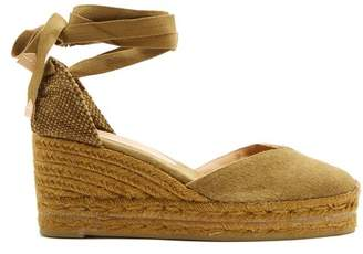 Castaner Chiara Canvas Wedge Espadrilles - Womens - Khaki