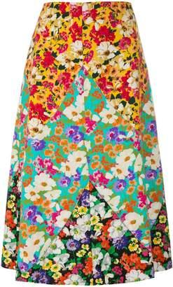 long floral print skirt