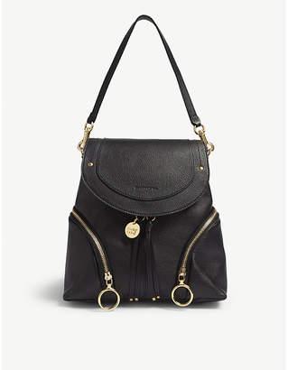See by Chloe Black Olga Leather Backpack