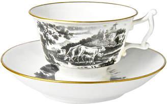 One Kings Lane Vintage Antique Staffordshire Cup & Saucer - Portfolio No.6