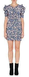 Isabel Marant Women's Brizia Floral Silk-Blend Dress - Blue