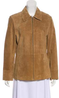 Bernardo Suede Zip-Up Jacket
