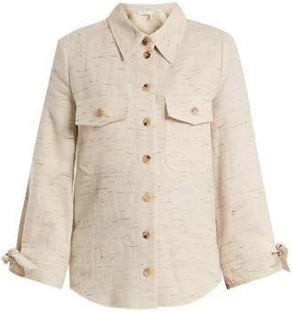 Chloé Flecked cotton-blend shirt