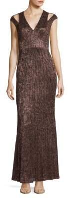 Calvin Klein Cold-Shoulder Mermaid Gown