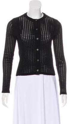 Tory Burch Perforated Knit Cardigan