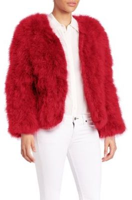 Pello Bello Jack Fluffy Feather Fever Jacket $248 thestylecure.com
