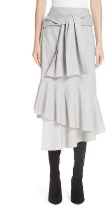Adeam Ruffled Suiting Skirt
