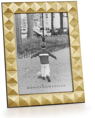 "Monica Rich Kosann Brass Pyramid 4"" x 6"" Picture Frame"