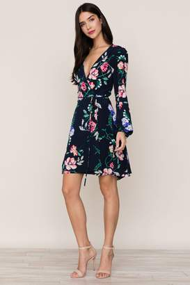 Yumi Kim Duchess Wrap Silk Dress