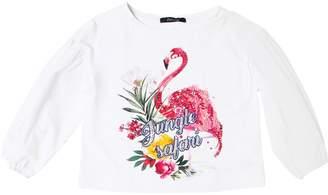 Jungle Cotton Jersey & Poplin T-Shirt