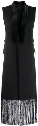 ZUHAIR MURAD tassel long sleeveless jacket