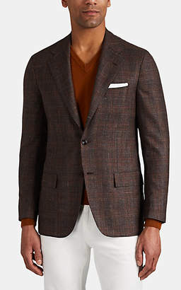 Kiton Men's KB Plaid Cashmere-Blend Two-Button Sportcoat - Brown Pat.