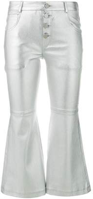 Each X Other metallic cropped flare trousers