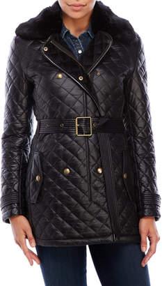 Lauren Ralph Lauren Faux Fur Collar Quilted Coat